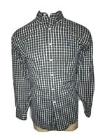 Polo Ralph Lauren Large L Blue White Yellow Check BLAKE Men's Button-Down Shirt