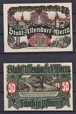 Allendorf a. d. Werra  -  50 Pfennig, Lindman 12 a, Mehl 12.1, kompl. Satz