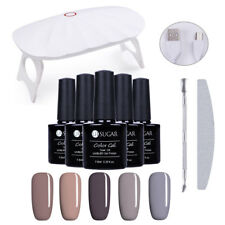 6W LED UV Lamp Nail Dryer Manicure Kit 5 Colors Soak-off UV Gel Polish Set