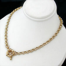 "NEW | 4mm BELCHER LINK 14K GOLD GL 24"" Necklace 
