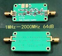 1MHz-2000MHz 64dB Gain NF: 1.8 RF low-noise broadband amplifier Module VHF HF