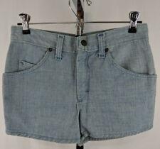 Vintage Sears Roebuck Jr Bazaar High Waisted Embroidered Jean Shorts Light Wash