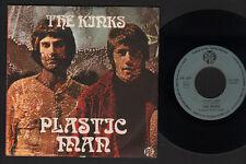 "7"" KINKS PLASTIC MAN / THE VILLAGE GREEN PRESERVATION SOCIETY ITALY 1969 DAVIES"