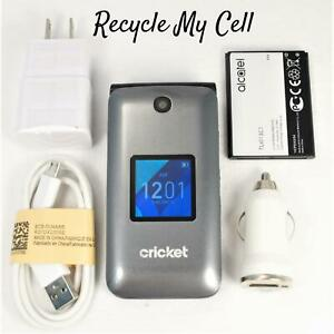 Alcatel 4044C GO Flip Phone (Cricket) 4G LTE High Speeds - Fast Fast Shipping