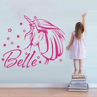 Name Wall Decal Unicorn Wall Sticker Personalized Girl's Room Decor