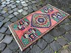 Turkish doormats, Handmade rug, Vintage rug, Carpet, Home decor | 1,4 x 2,9 ft
