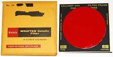 Kodak Wratten 25 Red 4 inch (100 mm) Gelatin Filter EX in Calumet Frame