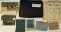 Large Lot of WWII RAF Photos Letters Home Paybook Ephemera - Egypt Singapore