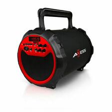 AXESS SPBT1034RD Axess RED Portable Bluetooth IndoorOutdoor 2.1 HiFi Loud Spe...