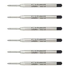 Parker Ball Point Pen Refills Medium Point Black Ink Pack of 6