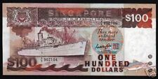 SINGAPORE $100 Dollars P23 A 1995 SHIP FISH AIRPLANE UNC MONEY CURRENCY BANKNOTE