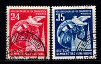 Germania DDR 1952 Mi. 320-321 Usato 100% Pace