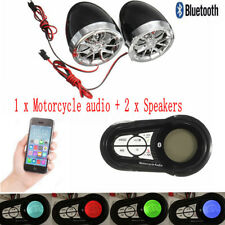 Motorcycle Bluetooth Handfree Audio System FM MP3 Radio Stereo Amplifier Speaker