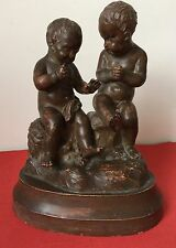 MOULAGE 2 CHILDREN SIGNATURE PIGALLE 2 ENFANT TERRE CUITE TERRACOTTA PATINE