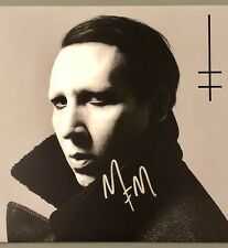 Marilyn Manson Signed Heaven Upside Down LP Vinyl Record Rare Antichrist PROOF