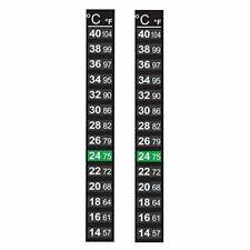 Pack of 2 x Home Brew 14-40C Thermometers Stick on LCD Homebrew Thermometers