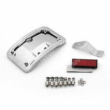 License Plate Mounting Kit Fit Harley Softail Deluxe FLSTN 2005-2014 Chrome AU