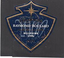 ETIQUETTE CHAMPAGNE RAYMOND BOULARD 1986 SPECIALE ANNEE DE LA COMETE §18/07/16§