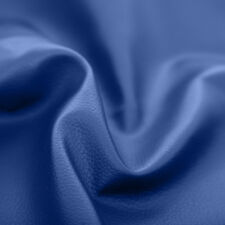 Royal Blue Faux Leather Leatherette Upholstery Material FR Fabric Fire Resistant