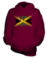 JAMAICA DISTRESSED FLAG UNISEX HOODIE TOP JAMAICAN  FOOTBALL JERSEY GIFT
