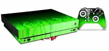 Skin Set for XBOX One X Console and Controller Fire Green