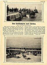 "Von Southamton nach Durban Neu-Sued-Wales-Ulanen an Bord des ""John Paterson""1899"