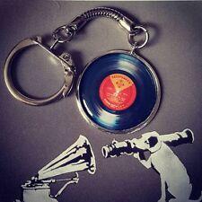 Unique VINYL RECORD KEYRING keychain MUSIC vintage RETRO cool DJ club CLASSIC