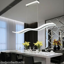 Modern Pendant Lights Chandeliers LED Lamp White Acrylic Parlor Dining Kitchen