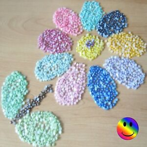 Half Pearls 200 x 4mm Acrylic Flat Round 3D Pearls Suitable Craft & Nail Art 💦