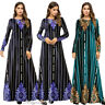 Abaya Women Muslim Long Sleeve Dress Jilbab Cocktail Maxi Kaftan Islamic Robe