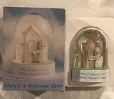 New 1991 Enesco Precious Moments 496618 There's A Welcome Here Chapel Waterball
