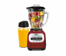Oster BLSTCG: Classic Series Blender w/ Travel Smoothie Cup - Red