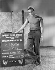 "MARLON BRANDO - 10"" x 8"" b/w Photo Wardrobe Test A STREET CAR NAMED DESIRE 1950"