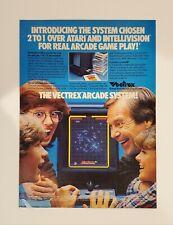 RARE VINTAGE 1982 VECTREX RETRO VIDEO GAME SYSTEM PRINT AD **FREE SHIPPING**