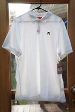 Nike John McEnroe Headband White Polo MSRP $70 Sz L Tennis Slim Fit CZ1763-100