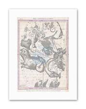 Lo spazio Antico Star MAP COSTELLAZIONI Burritt tela art prints