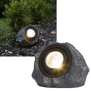 """LED Solar Stein-Leuchte """"ROCKY"""" IP44 Solar-Strahler Steine Garten Weg-Lampe"""