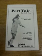 12/04/1971 Port Vale v Shrewsbury Town  (Staples Removed). Thanks for viewing th