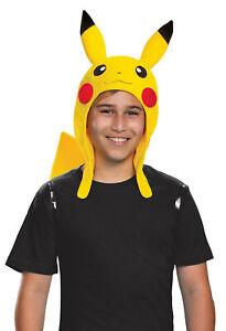 Pikachu Adult Costume Accessory Kit NEW Pokemon Headpiece Tail One Size