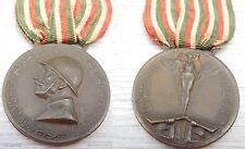 MEDAGLIA GUERRA PER L'UNITÀ D'ITALIA 1915-1918 CONIATA NEL BRONZO NEMICO