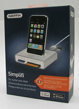 Griffin Simplifi Desktop Dock Charger+Card Reader for iPod Classic iPhone 4S NEW