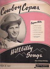 COWBOY COPAS Hillbilly Songs magazine (1947) Lois Music Publishing