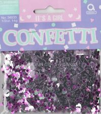 4 PACKS IT'S A GIRL CONFETTI /  TABLE SPRINKLES PINK COLOUR TABLE DECORATIONS