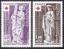 France 1976 Red Cross/Medical/Health/Welfare/Church Statues 2v set (n20407)