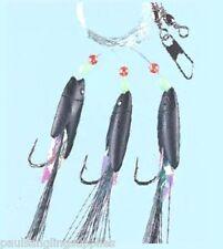 10 x Max Black Cod  Sea Fishing Rigs 3 Hook size 6/0