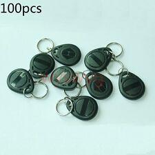 100pcs 125KHz RFID ID EM4100 Proximity Induction Black Tag Token Keyfob
