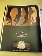 PUBBLICITA' ADVERTISING WERBUNG 1989 BAUME & MERCIER TRANSPACIFIC OROLOGIO (G41)