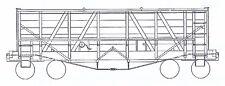 COLORADO MIDLAND RAILROAD 1889 BATTLESHIP GONDOLA HO Model Railroad Kit TC2012