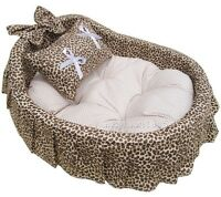 Princess 100% Cotton Pet Dog Cat Handmade Bed House sofa 4colors Medium 4colors