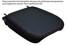 red stitch FITS SAAB 9-5 95 1997-2009 LEATHER ARMREST COVER ONLY
